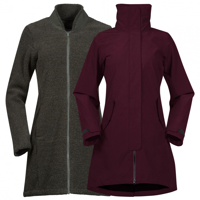Bergans Women's Oslo 3In1 Coat Doppeljacke Zinfan Red Melange Solid Charcoal Melange | XS