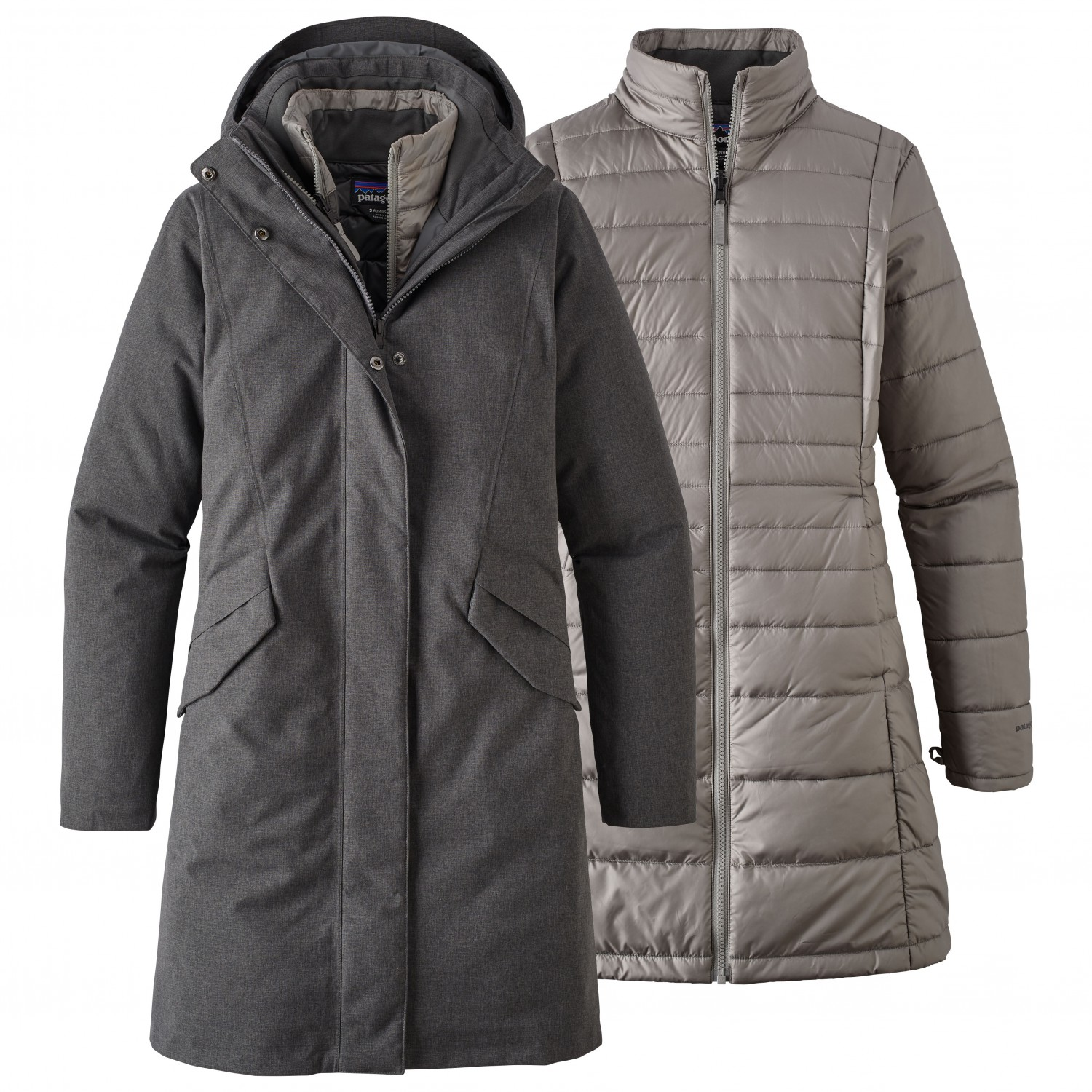 outlet store b58f3 206de Patagonia - Women's Vosque 3-In-1 Parka - Giacca doppia - Forge Grey   XS