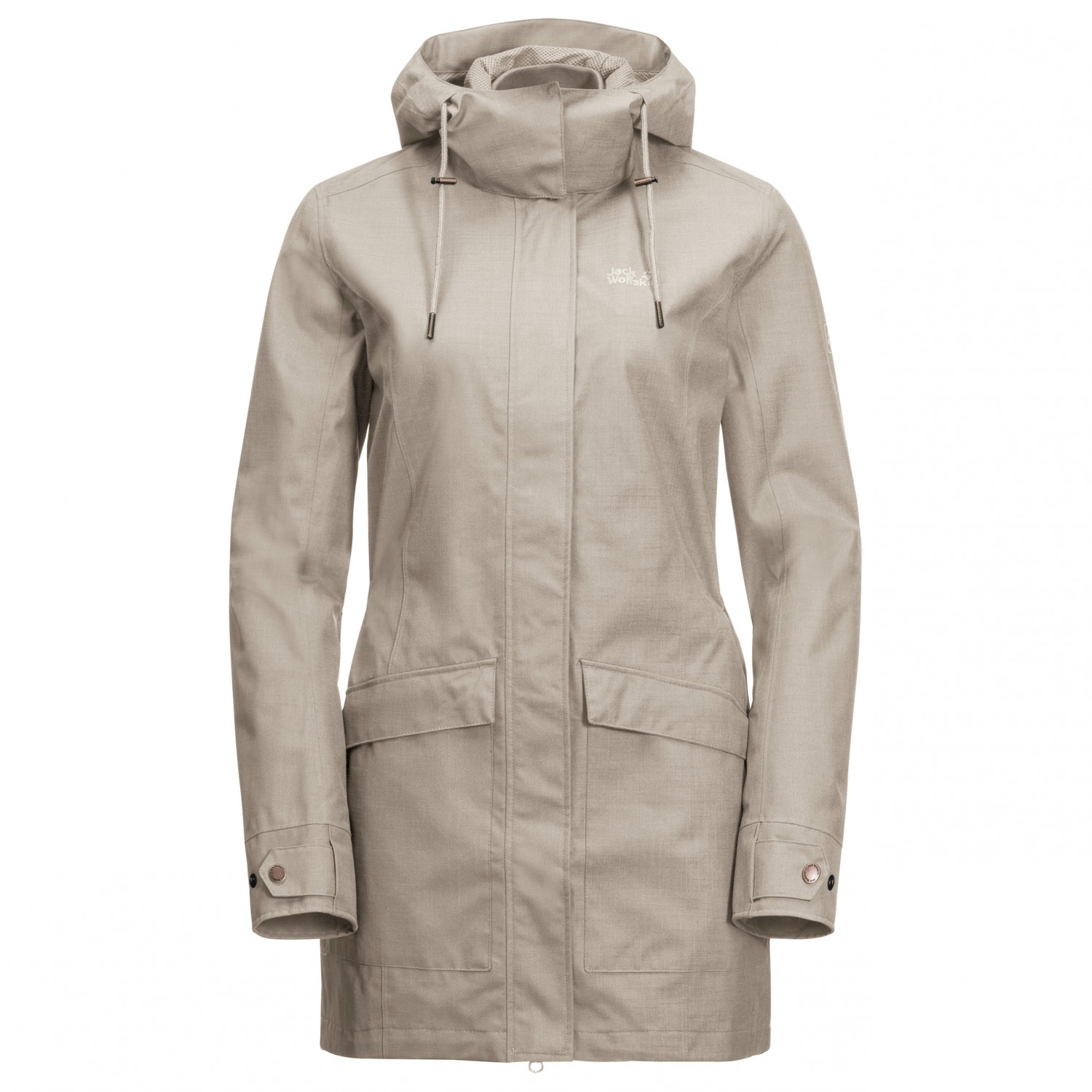 finest selection acdd9 7e502 Jack Wolfskin - Women's Rocky River Coat - Mantel - Dusty Grey | L