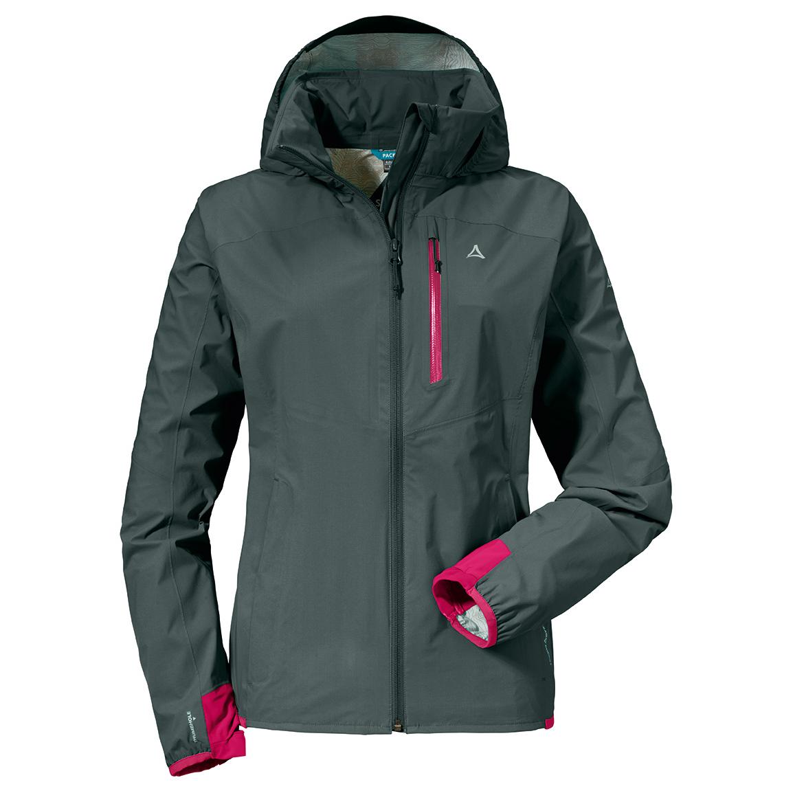 Schöffel Women's Neufundland2 Veste Imperméable Jacket Blues44eu Dress jcA5q4RL3