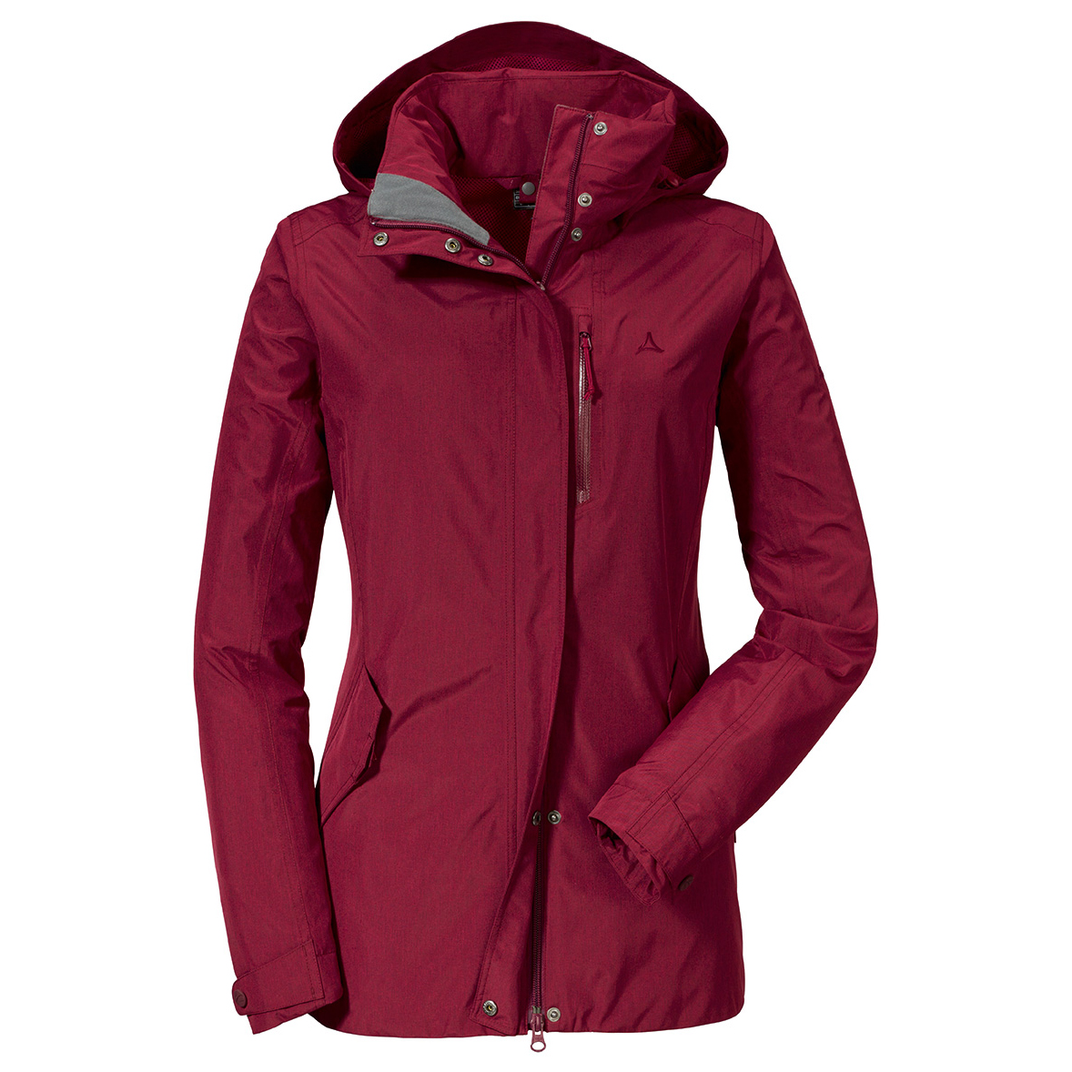 wholesale outlet outlet store sale coupon codes Schöffel - Women's Zipin! Jacket Fontanella2 - Regenjacke - Beet Red | 46  (EU)
