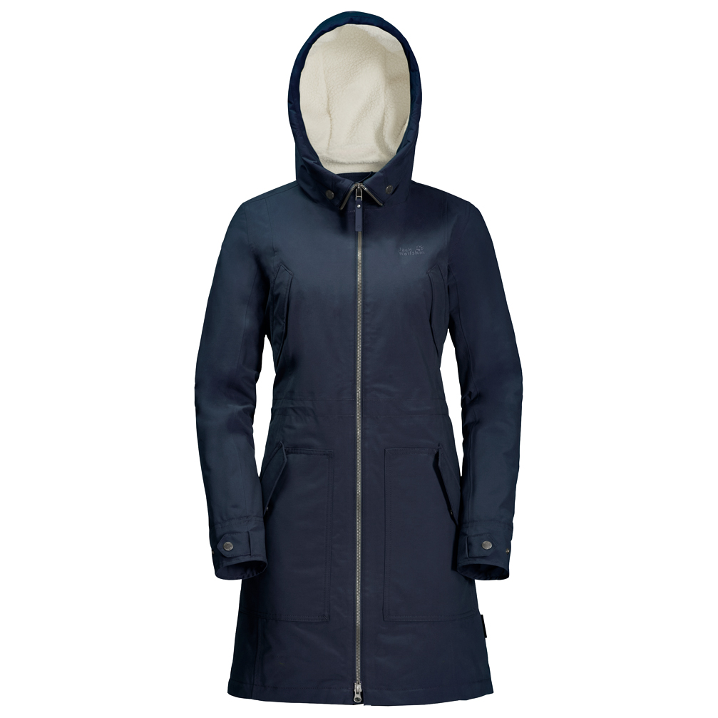Jack Wolfskin Women's Rocky Point Parka Coat Midnight Blue | XS