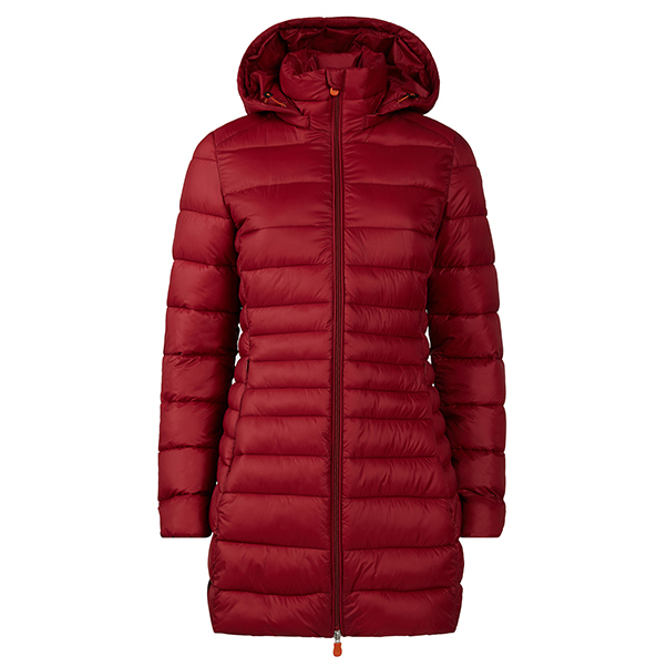 Save the Duck Women's Giga9 Hooded Coat Mantel Mineral Red   XL