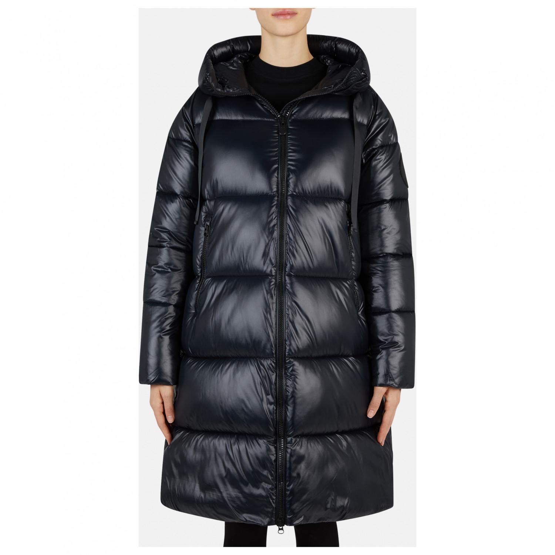 Duck Coat Save Luck9 Coat the Evening Women's Hodded BlueXS HI2eE9WDY