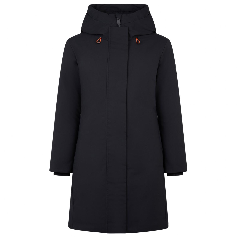 Save the Duck Women's Smeg9 Hooded Coat Mantel Blue Black   XS
