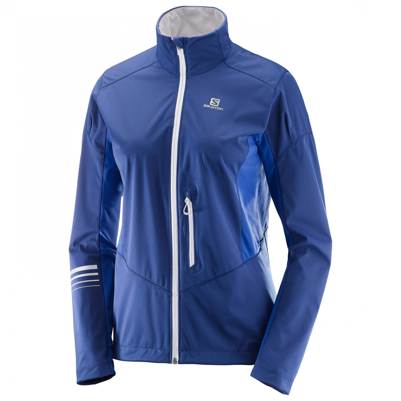 low priced 66add 18027 Salomon - Women's Lightning Softshell Jacket - Softshell jacket - Medieval  Blue / Sodalite Blue | XS