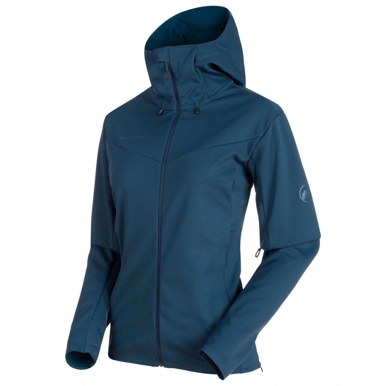 beste Qualität für anerkannte Marken Detaillierung Mammut - Ultimate V SO Hooded Jacket Women - Softshell jacket - Jay / Jay  Melange | S