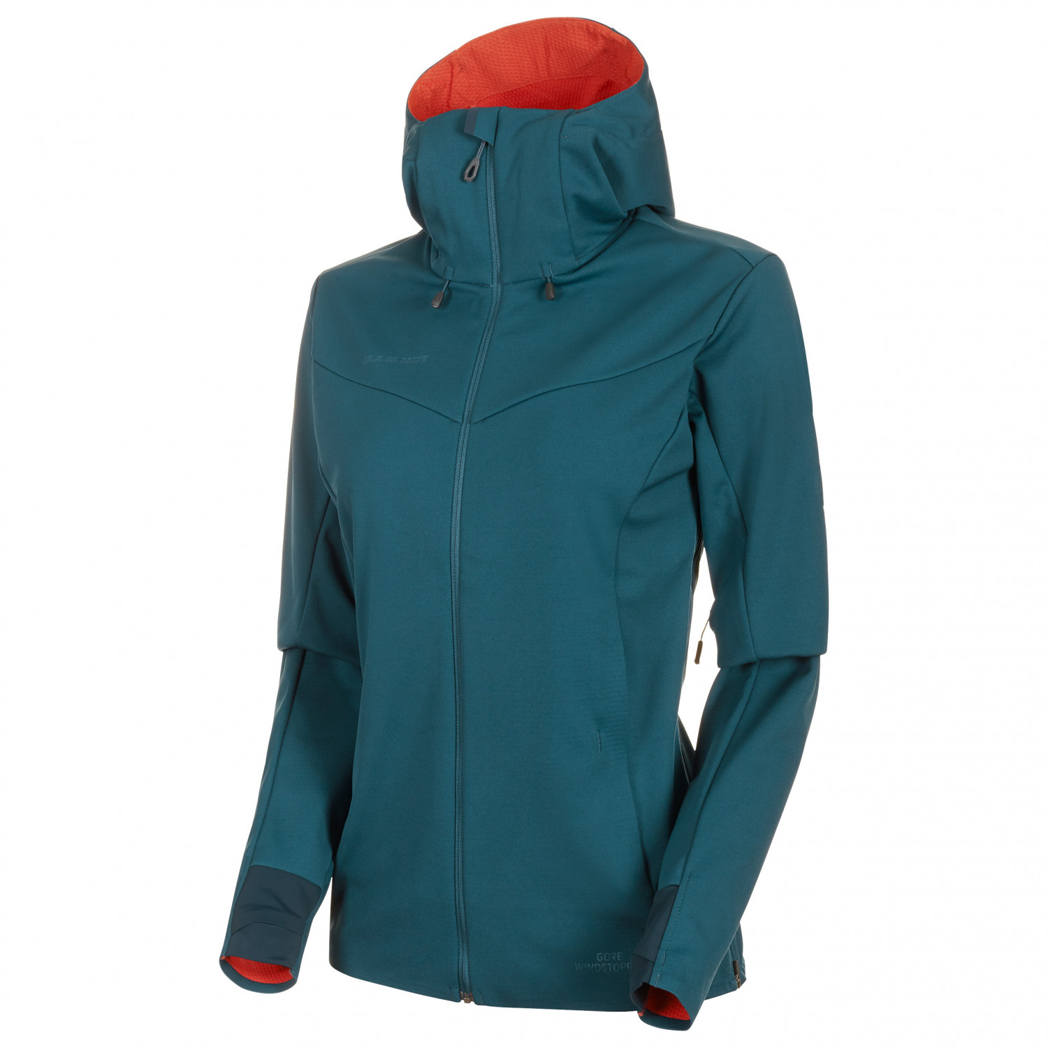 official photos 18573 8886f Mammut - Women's Ultimate V So Hooded Jacket - Softshelljacke - Wing Teal /  Pepper | XS