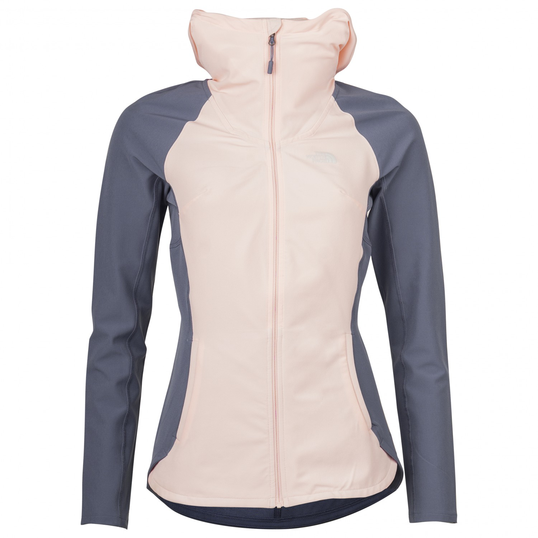 The North Face Women's Invene Softshell Jacket Softshelljacke Pink Salt Grisaille Grey | M