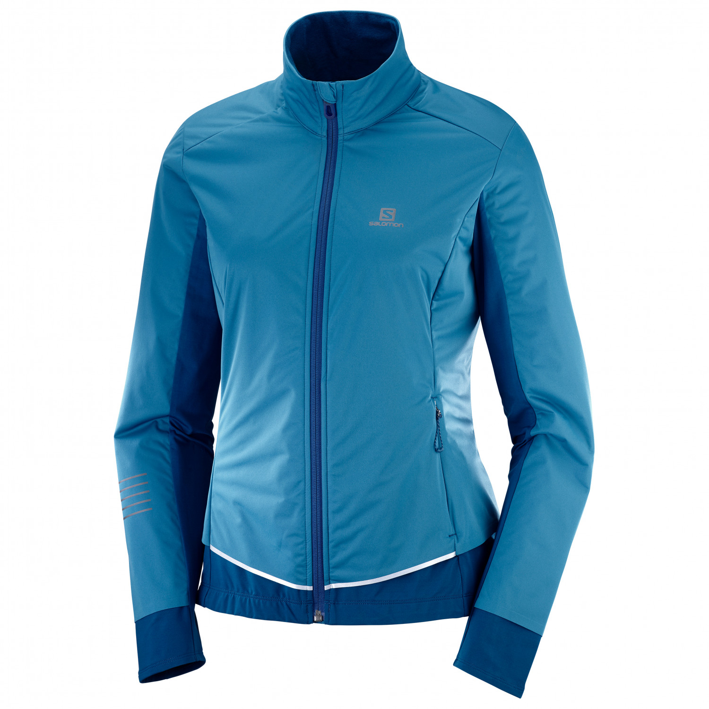 Salomon Women's Lightning Lightshell Jacket Langlaufjacke Lyons Blue   XS