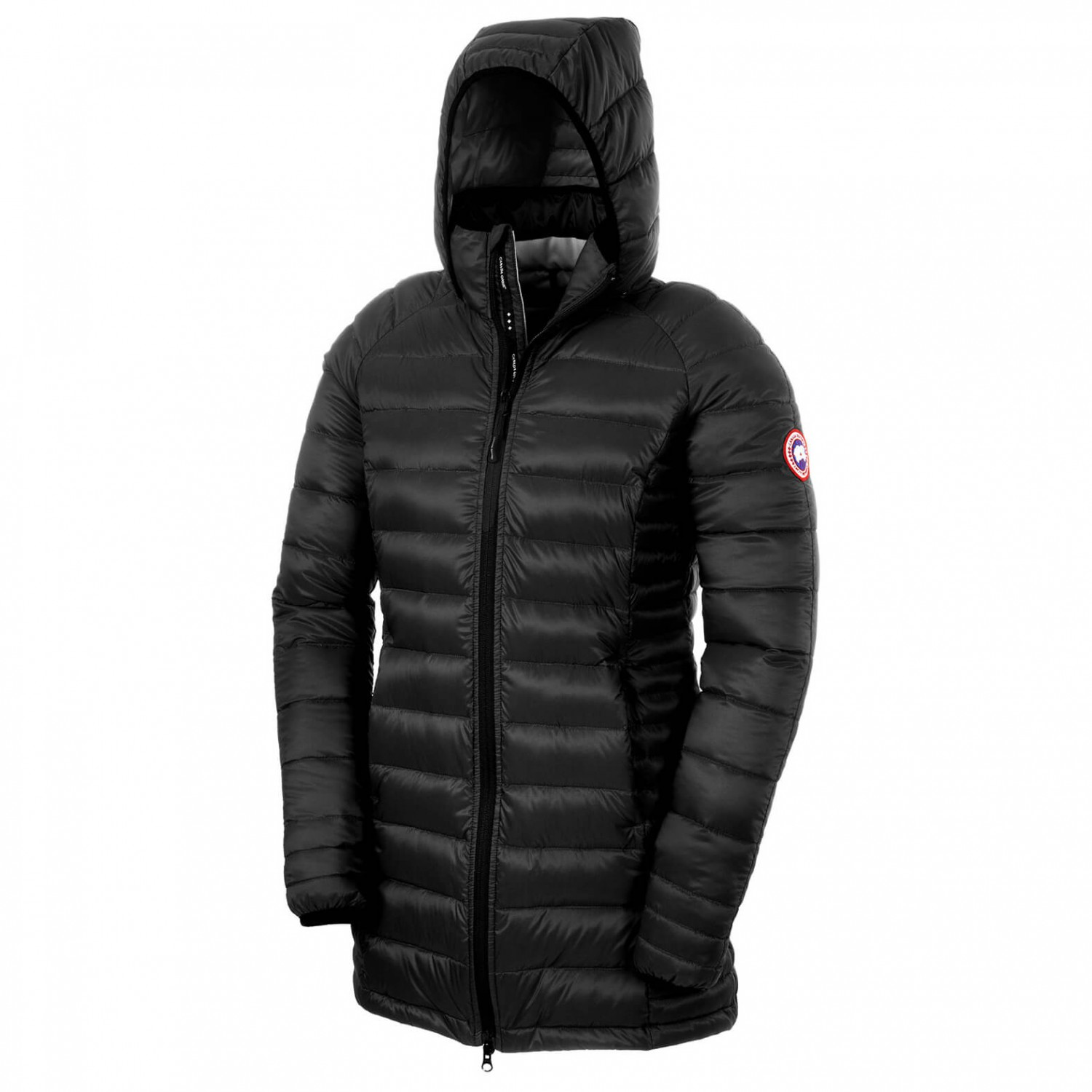 7d12b45e5eb Canada Goose - Women's Brookvale Hooded Coat - Winter jacket - Black /  Graphite | XXS