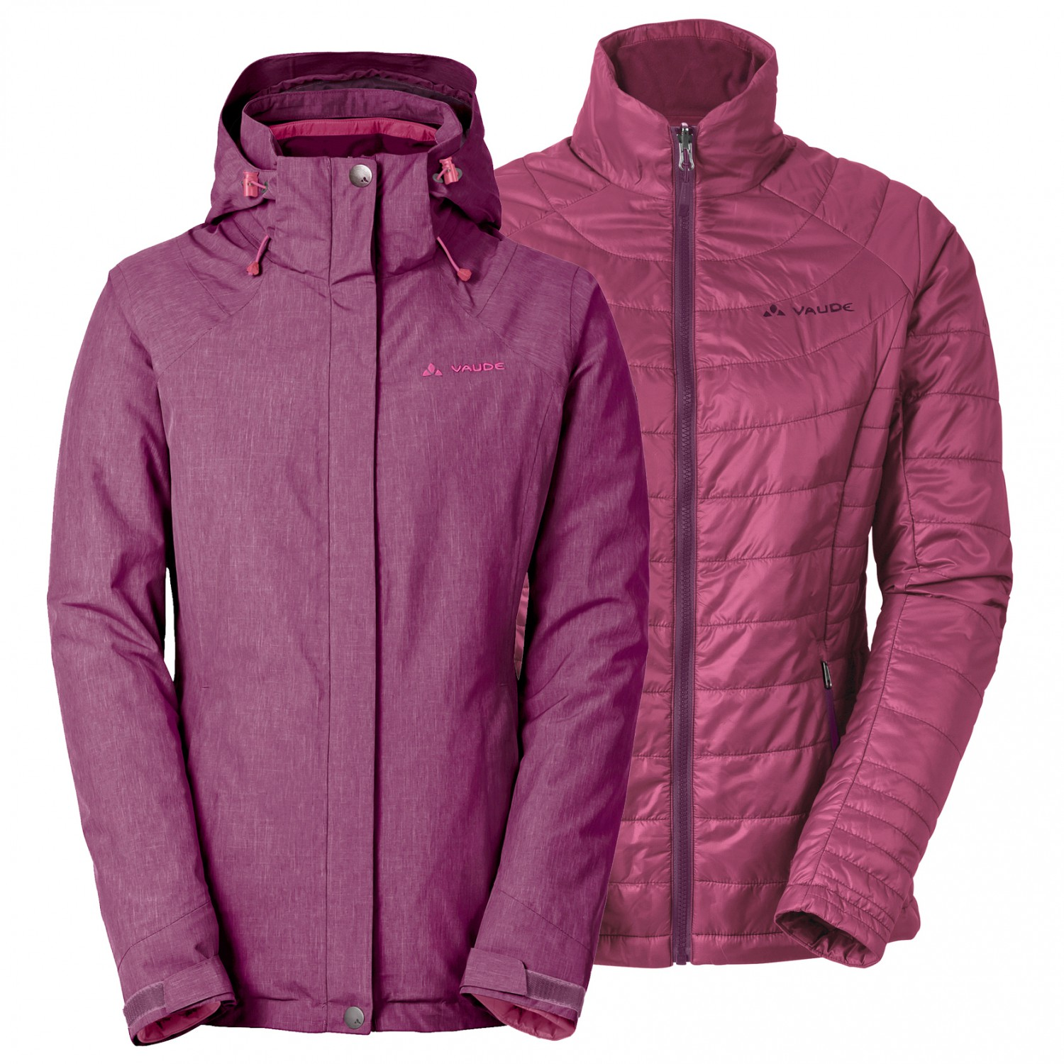 innovative design 38ddc 8a763 Vaude - Women's Caserina 3in1 Jacket - 3-in-1 jacket - Fuchsia | 34 (EU)