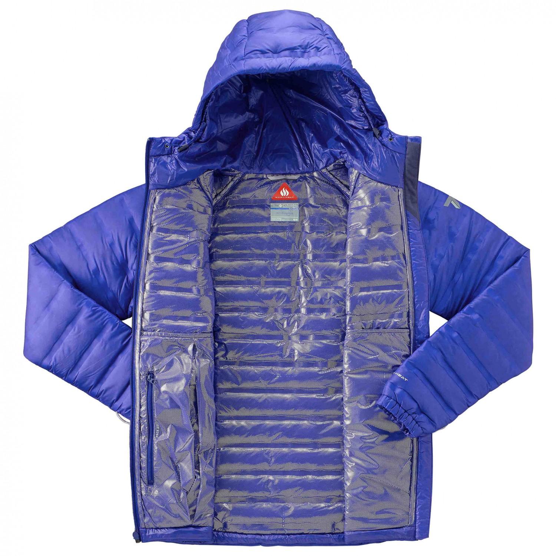 Down Ridge Daunenjacke Hooded Columbia Damen Jacket Titan 4AL35Rj