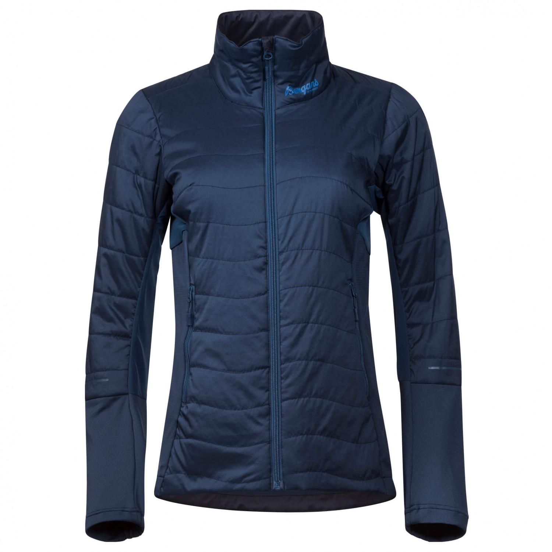 6263c5865 Bergans - Women's Fl›yen Light Insulated Jacket - Synthetic jacket - Dark  Steel Blue / Fjord   XS