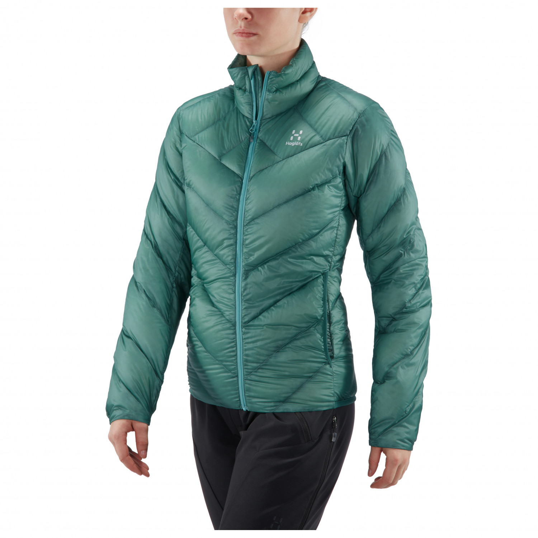 Haglöfs Women's L.I.M Essens Jacket Daunenjacke Glacier Green   S