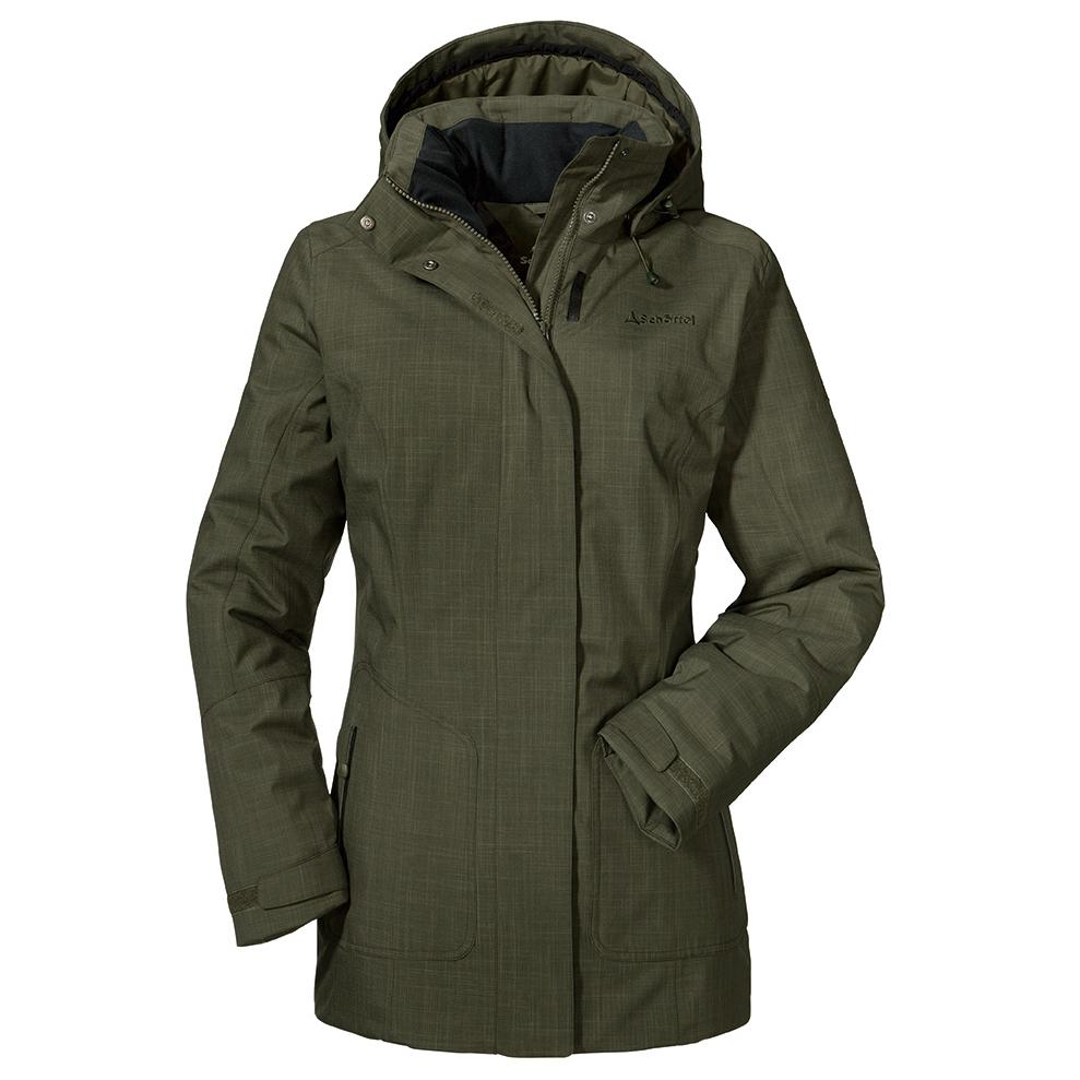 huge inventory arrives on feet shots of Schöffel - Women's Insulated Jacket Sedona 2 - Winter jacket - Shale   34 -  Regular (EU)