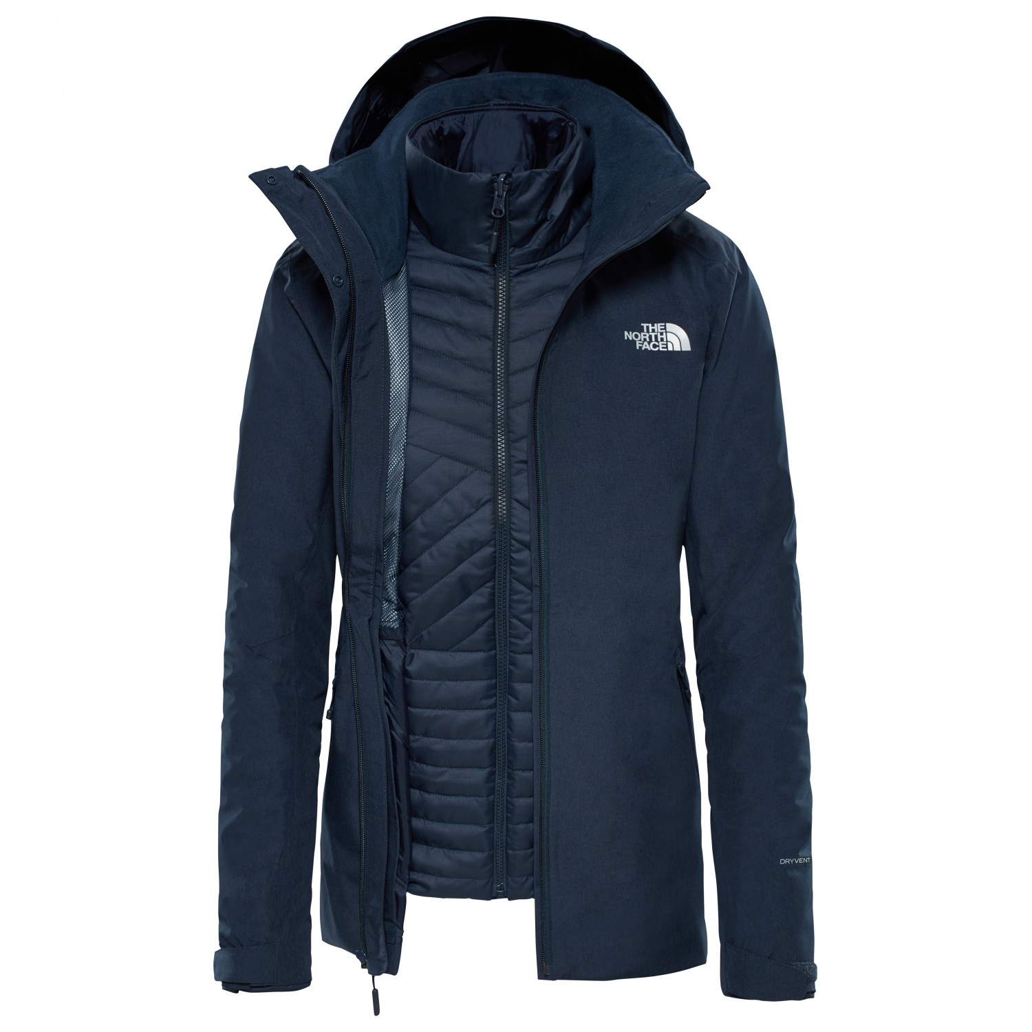 the north face 3 in 1 jacke damen