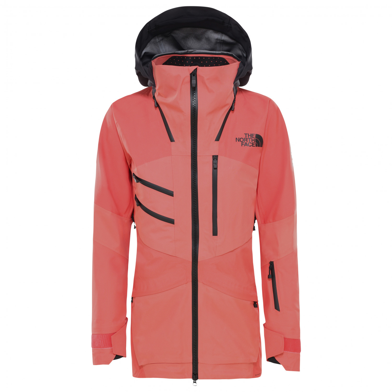 The North Face Women's Brigandine Jacket Skidjacka Radiannt Orange Fuse Weathered Black Fuse | L