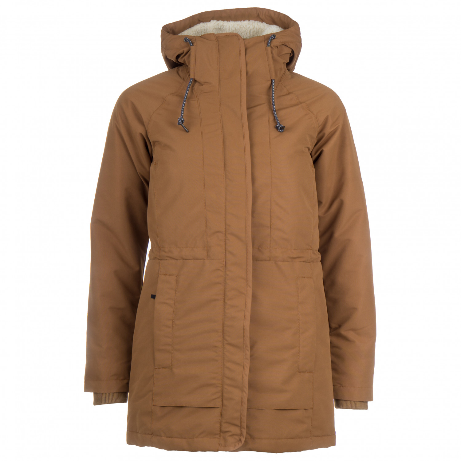 Columbia Women's South Canyon Sherpa Lined Jacket Parka Camel Brown Chalk Sherpa | S