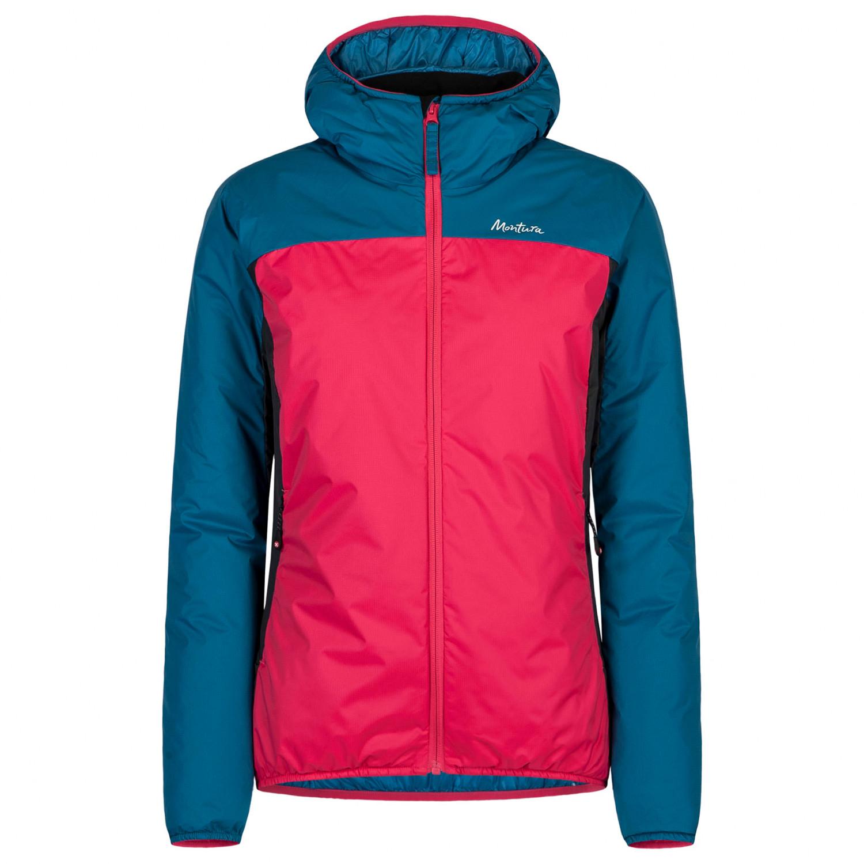 Montura Outback Hoody Jacket Woman Chaqueta de fibra sintética Rosa Sugar Blu Ottanio | XS