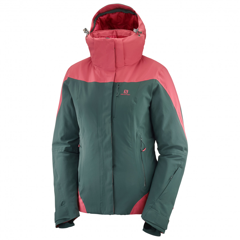 Salomon Women's Icerocket Jacket Skidjacka Green Gab | S