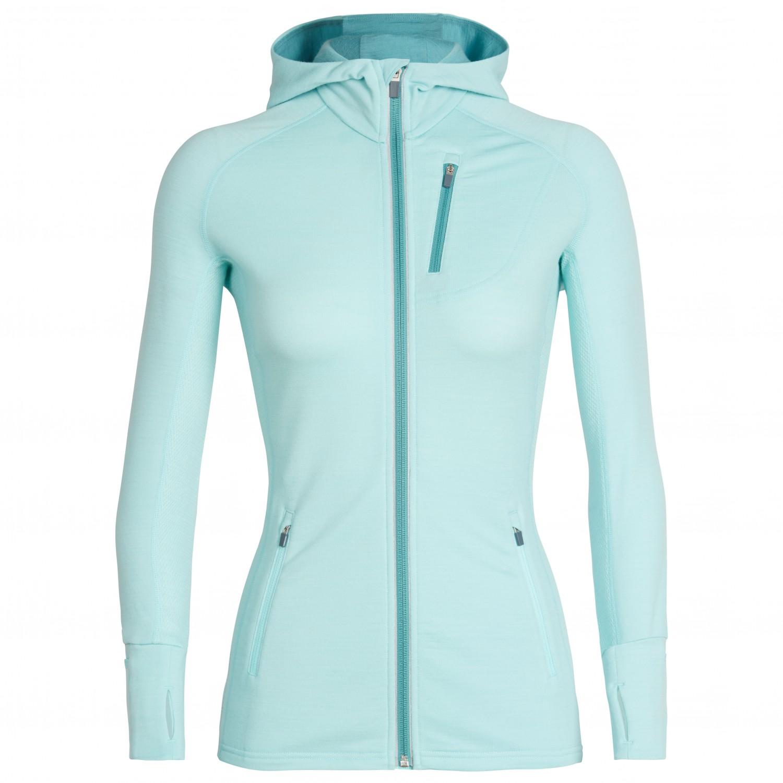 e39bfbcc479 Icebreaker Quantum LS Zip Hood - Wool Jacket Women's | Free UK ...