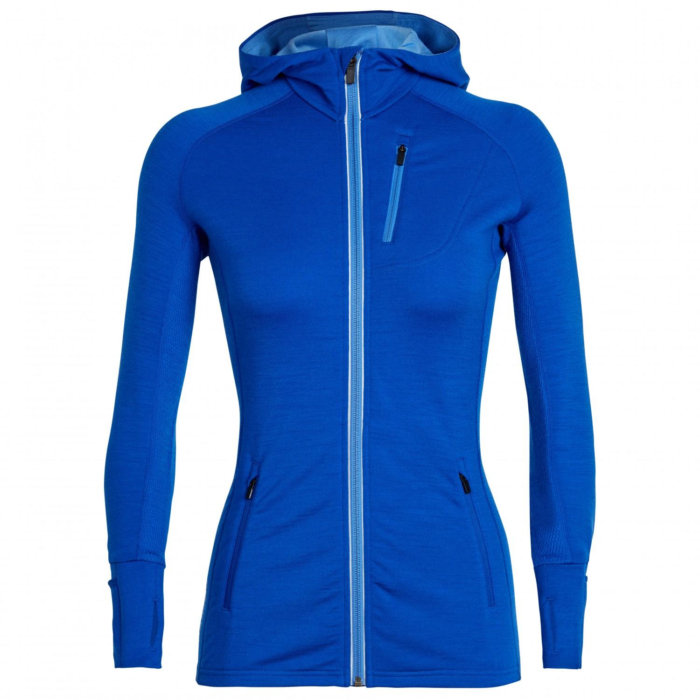 833fa3b35d Icebreaker Quantum LS Zip Hood - Wool Jacket Women's | Free UK ...