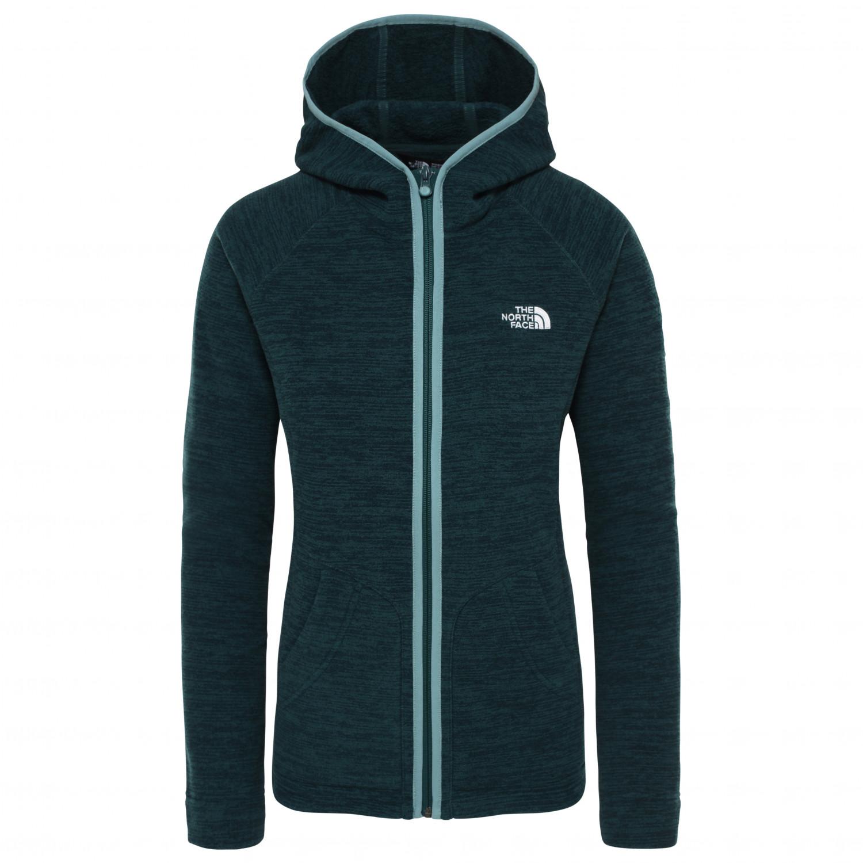 2505adfab The North Face - Women's Nikster Full Zip Hoodie - Fleece jacket - Sequoia  Red Dark Heather | S