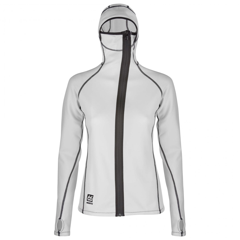 66 North Women's Vik Hooded Jacket Fleece jacket Charcoal   XS