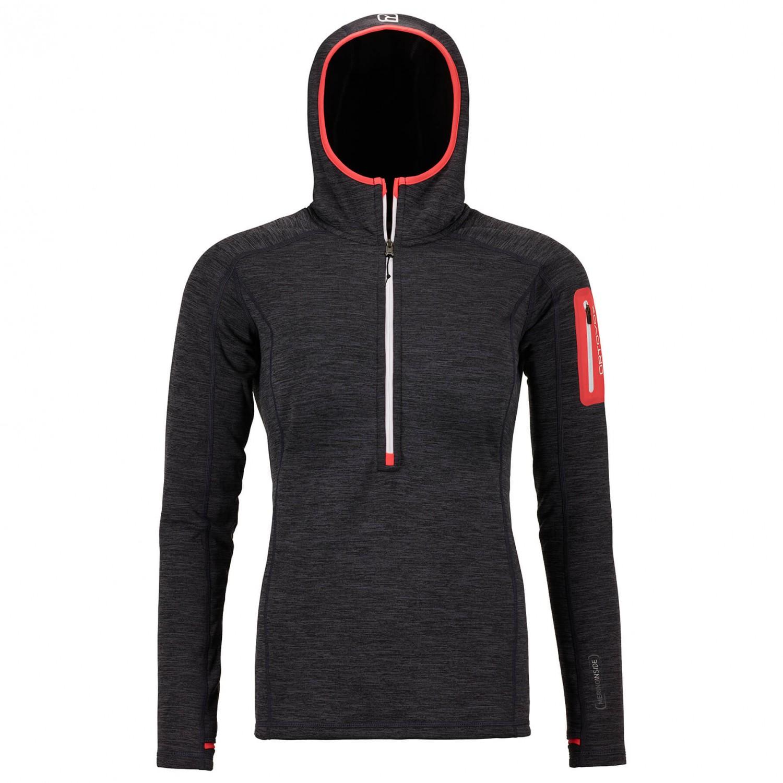 1177ba0c172cf Ortovox Fleece Light Melange Zip Neck - Fleece Jumper Women s
