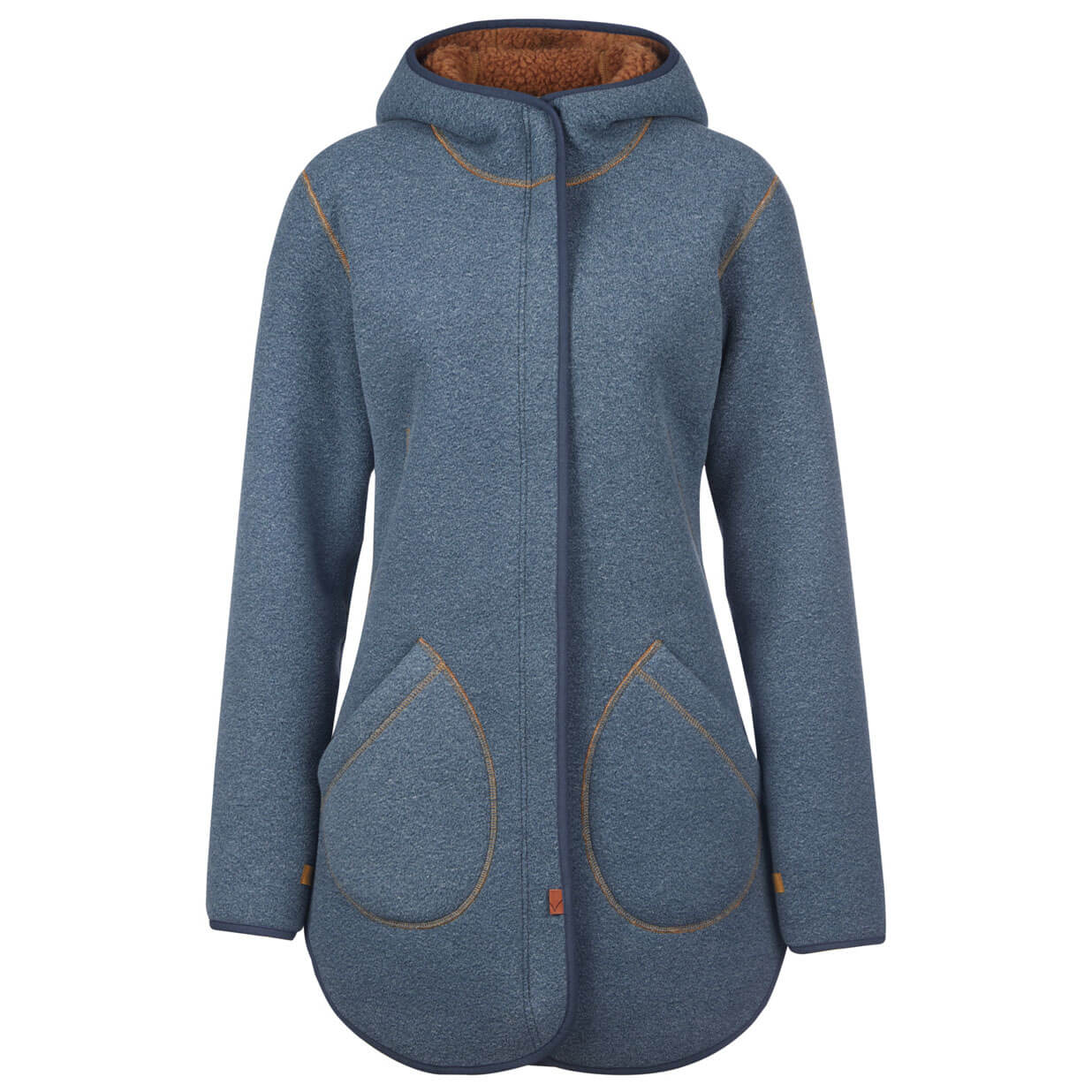 The hi-loft fleece is soft and comfortable, and the jacket is very warm for its weight. The cut is roomy enough to wear over a base layer, and it still fit well under our winter jacket .
