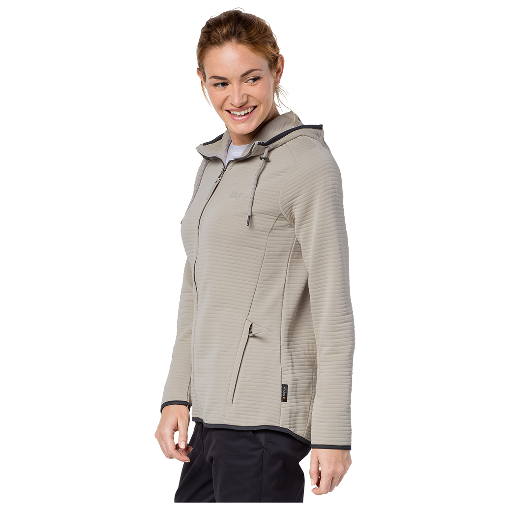 Fleece Women's Jack Jacket Wolfskin Modesto Hooded n0Nvm8w