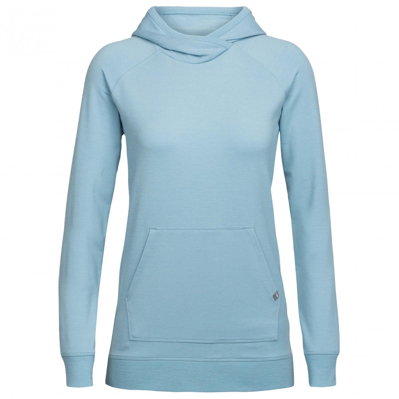 online store 70557 ae38f Icebreaker - Women's Mira Pullover Hoody - Merino jumper - Metal | M