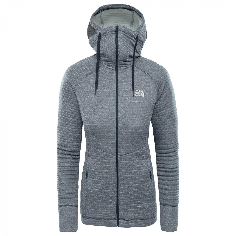 7ab370ae1 The North Face - Women's Hikesteller Midlayer Jacket - Fleece jacket -  Vanadis Grey / Radiant Orange | XS