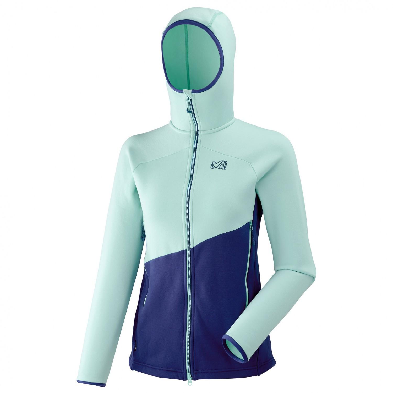 sale retailer 1d084 3da20 Millet - Women's Elevation Power Hoodie - Fleece jacket - Blue Depths /  Aruba Blue   XS