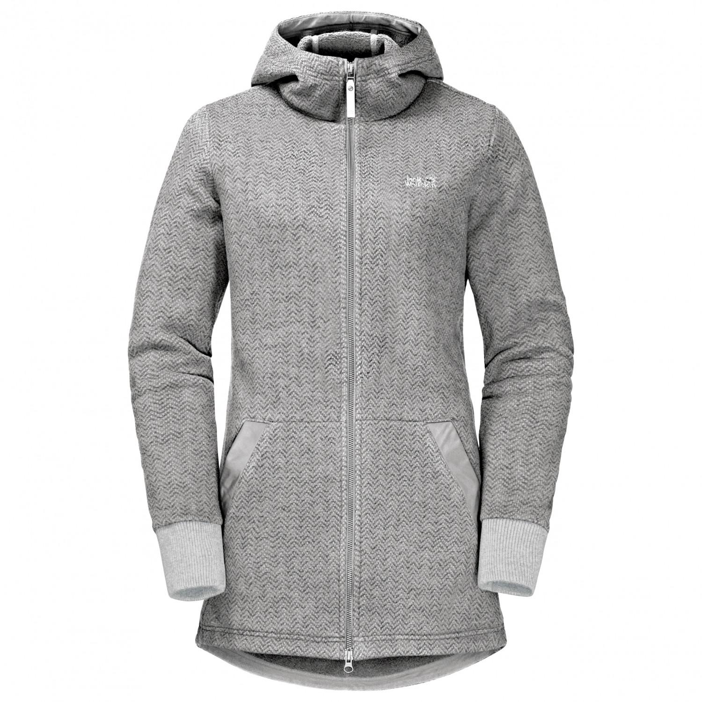 100% aito tukkukaupassa muutaman päivän päässä Jack Wolfskin - Women's Patan Long Jacket - Fleece jacket - Phantom | S