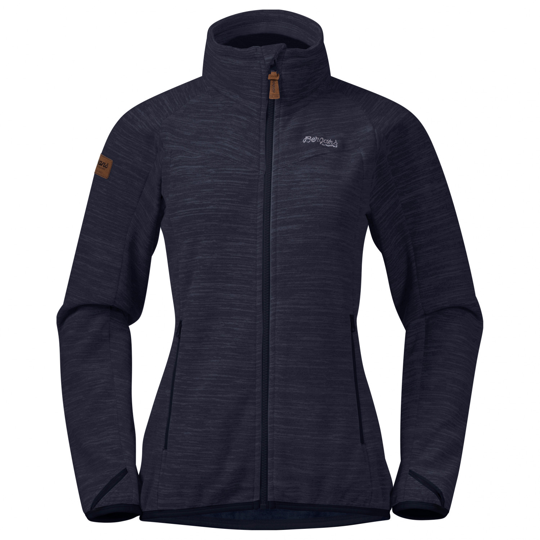 Bergans   Women's Hareid Fleece Jacket Nohood   Fleecejacke   Dark Navy  Melange   XS