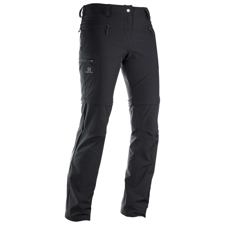 Salomon Women's Wayfarer Zip Pant Trekkingbroek Black | 34 (EU)