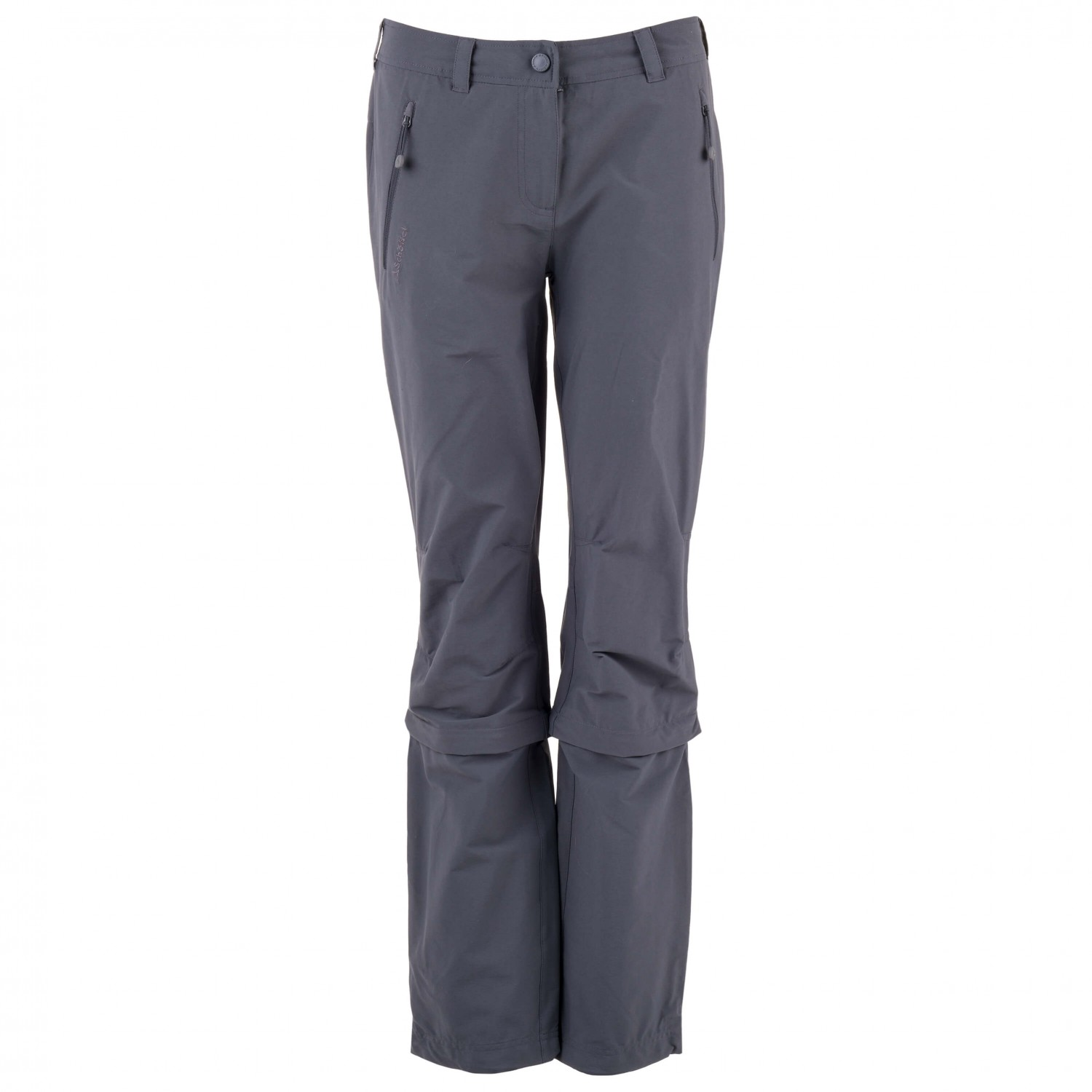Charcoal18 Shorteu Zip Engadin Women's Trekking Pants Off Pantalon De Schöffel ZiPkuOTX
