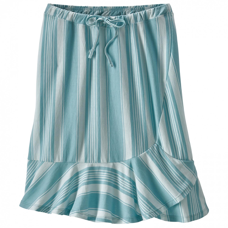 a6fe56dd1 Patagonia - Women's Alpine Valley Skirt - Skjørt - Granite Stripe / Dam  Blue   XS