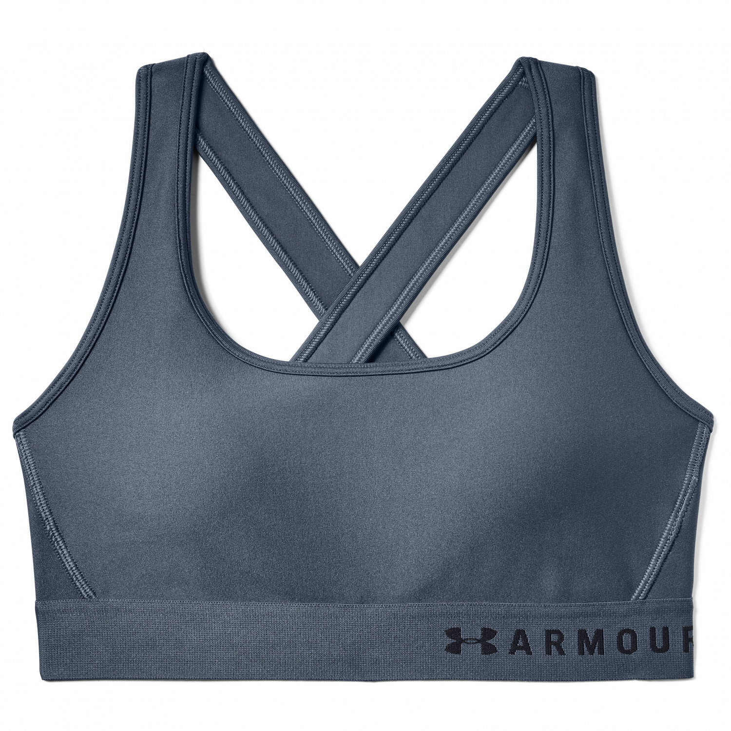 b84b6726e1b Under Armour - Women's Armour Mid Crossback - Sports bra - Downpour Gray | S