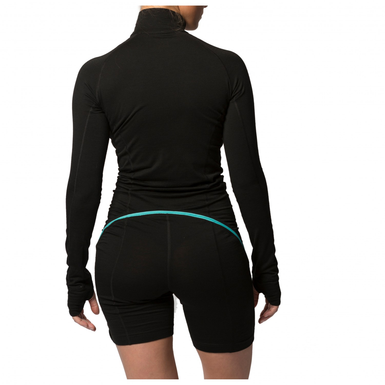 Womens Merino Wool Thermals Northern Playground Ziplongs Wool Full Length Base Layer Bottoms