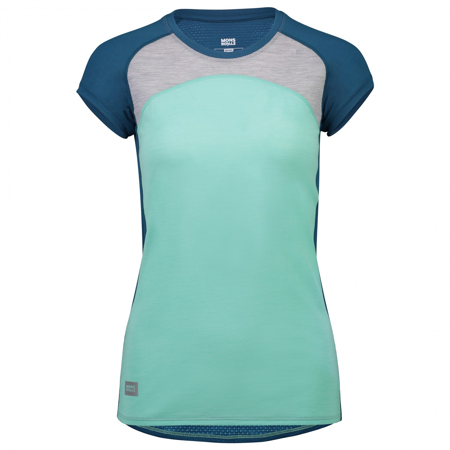 Tee Mérinos Royale MarlXs Grey Peppermint Women's Bella Sous Tech Oily Vêtement Mons Blue ZOPkuiwXT