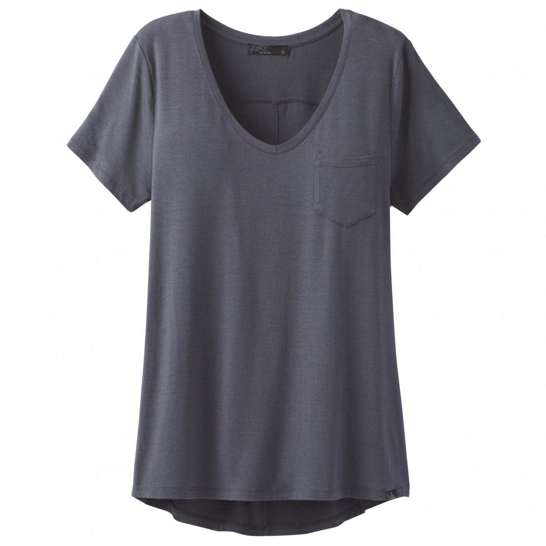 Prana foundation s s v neck top t shirt femme achat en for Prana women s shirts