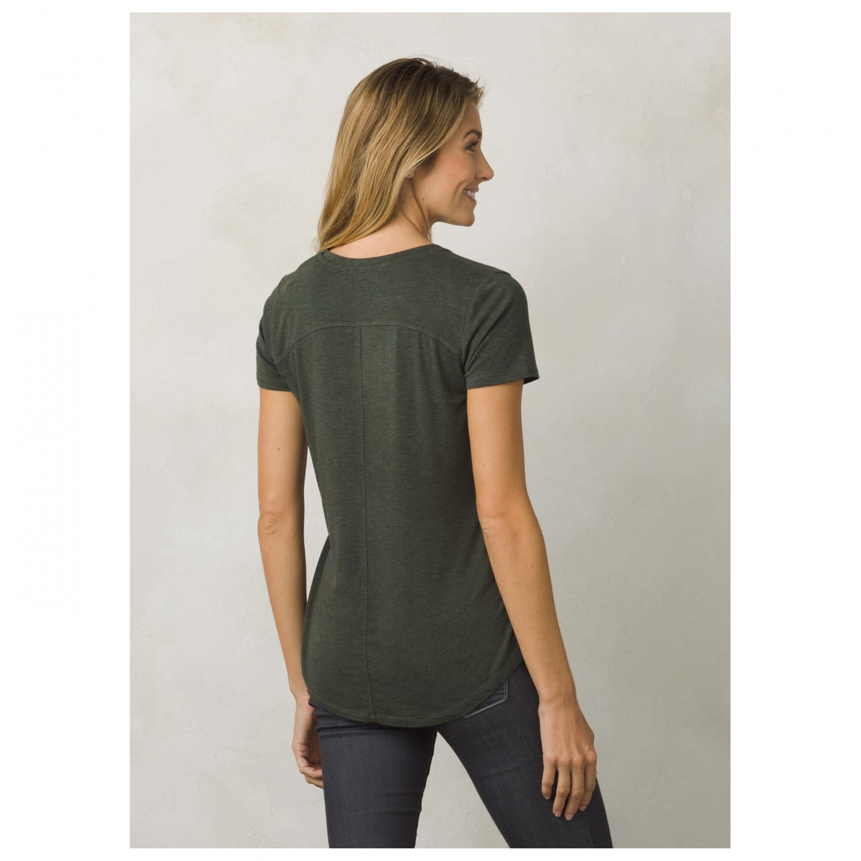 Prana foundation s s v neck top t shirt dames online for Prana women s shirts