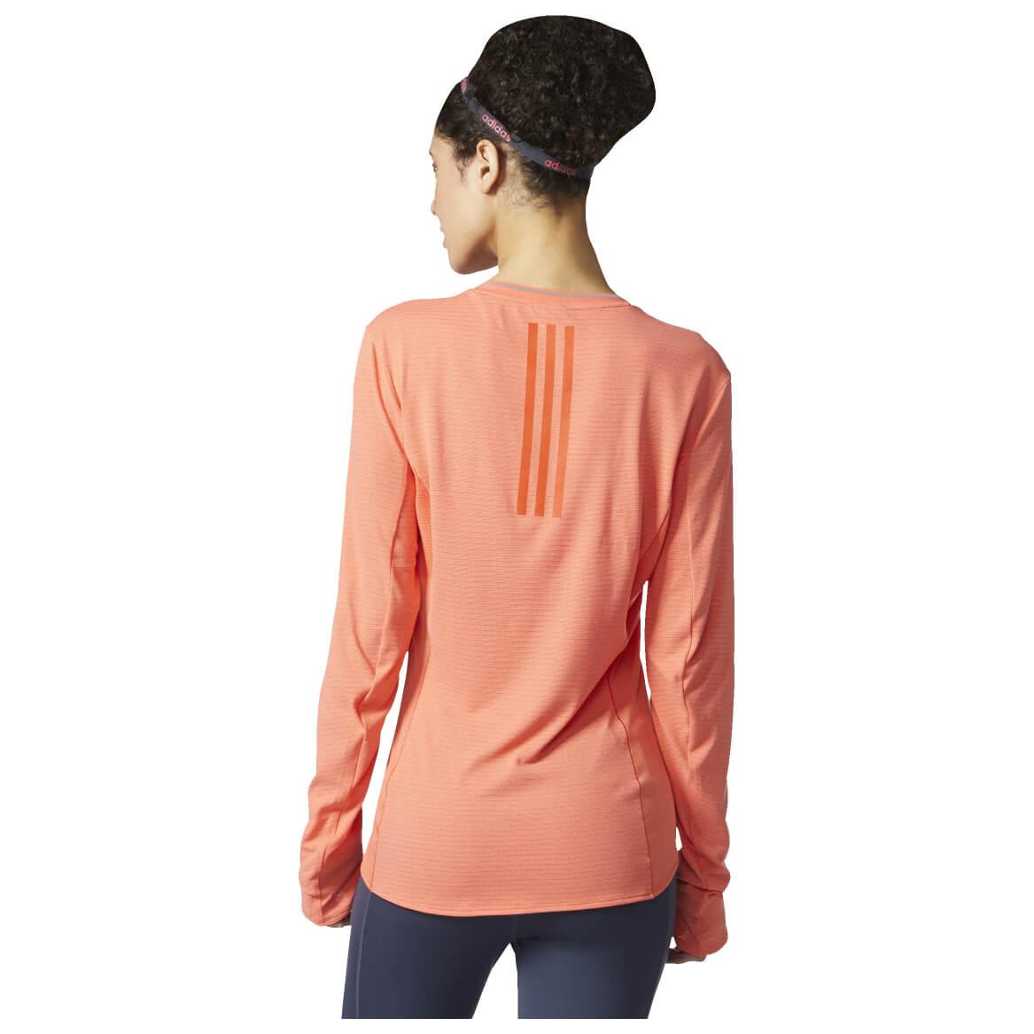 Adidas supernova long sleeve tee running shirt women 39 s for Long sleeve running shirt womens