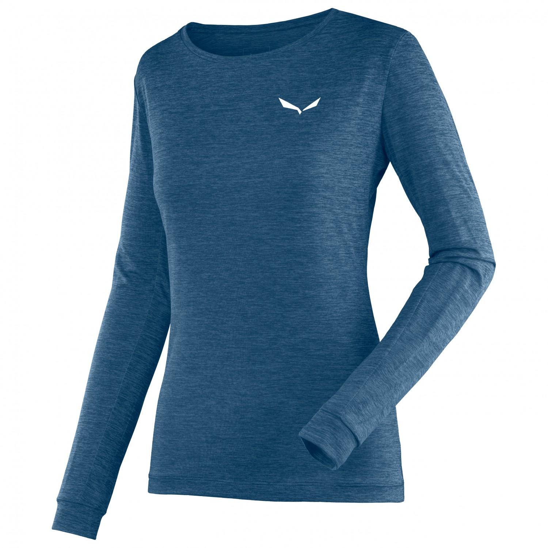 new concept fbade 9382c Salewa - Women's Puez Melange Dry L/S Tee - Funktionsshirt - Poseidon  Melange | 36 (EU)