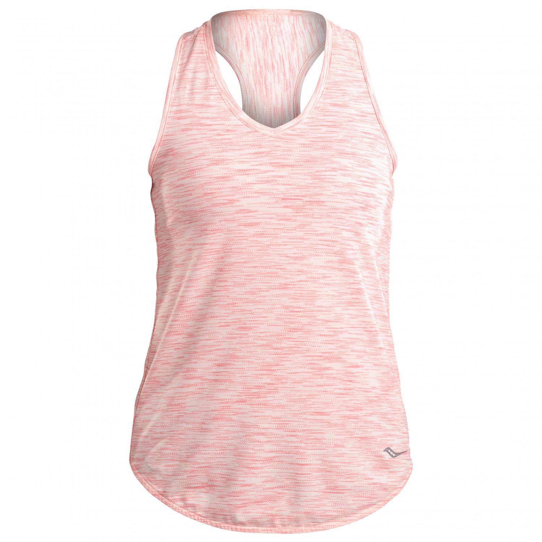 110968e9ae Saucony - Women's Gait Tank - Running shirt - Salmon Rose   XS