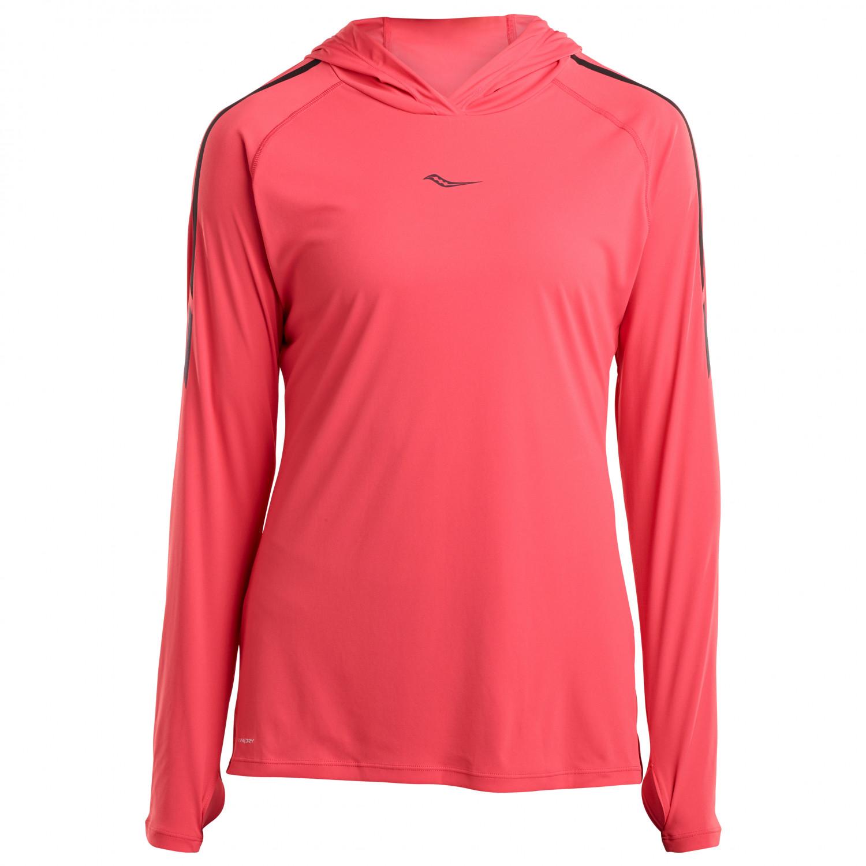 cc297d1365 Saucony - Women's UV Lite Long Sleeve - Running shirt - Hibiscus | XS