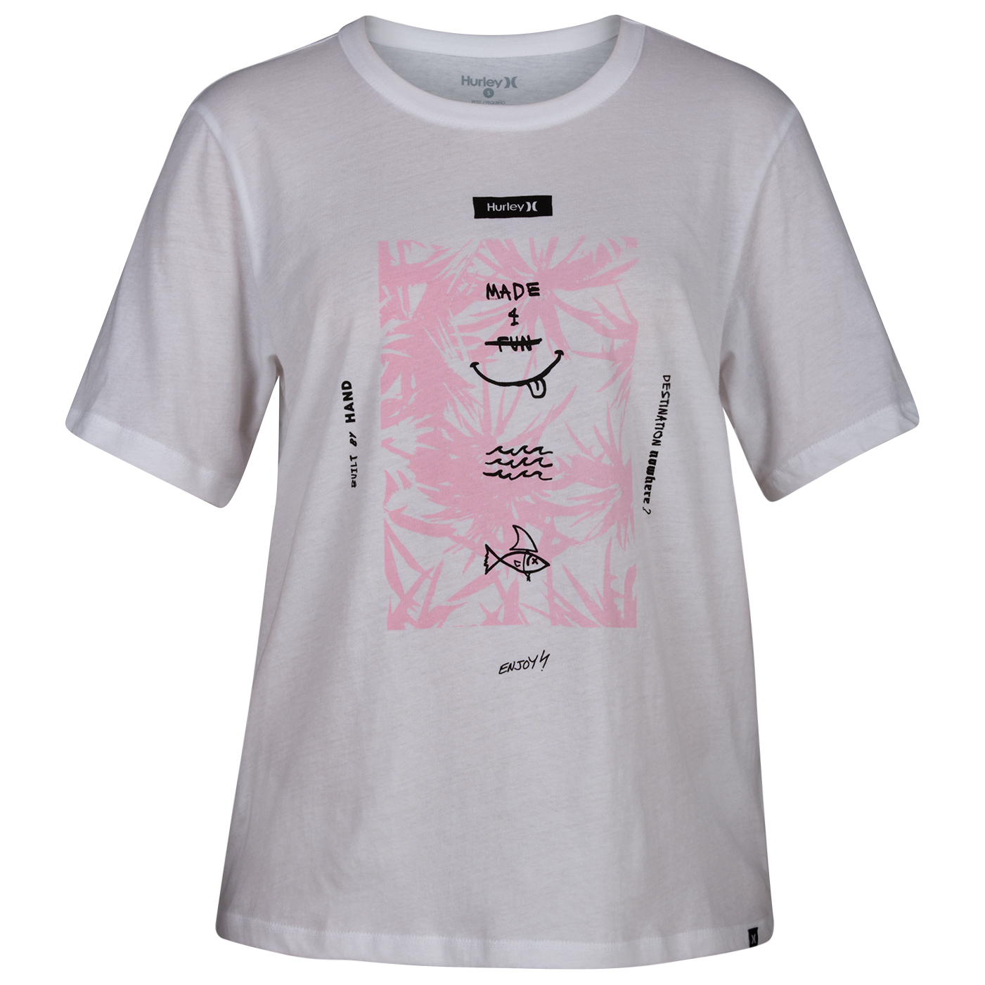 super popular best online new york Hurley - Women's Floral Spike Perfect Crew - T-shirt - White | M